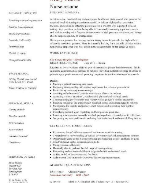 Registered Nurse Resume Examples Of Objectives. nursing resume ...