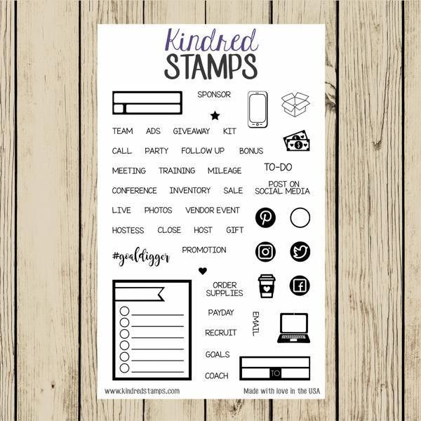 Planner Stamps - Kindred Stamps