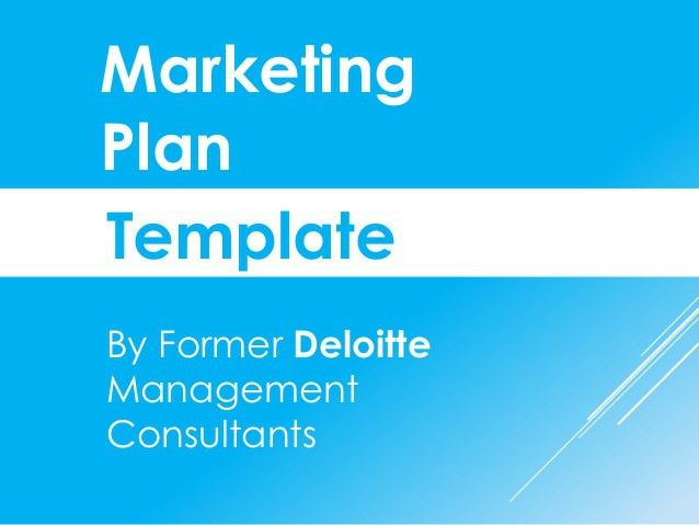 Marketing plan template in Powerpoint