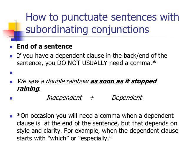 Avoiding Run-ons & Comma Splices
