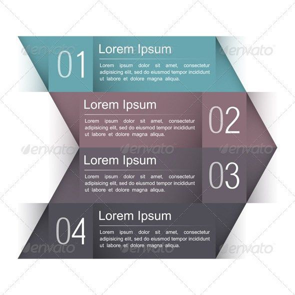Design Template with Four Elements by _human | GraphicRiver
