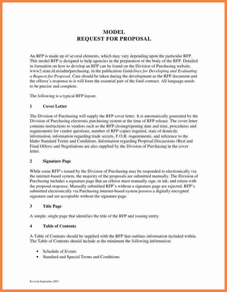 Request For Proposal Template. Request For Proposal, Template Of ...