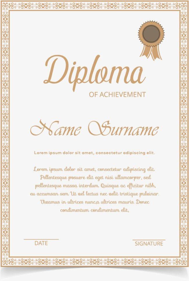 Gold European border certificate, Certificate Template, Training ...