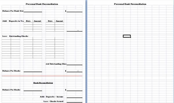 Bank Reconciliation Template is hereby developed to assist people ...