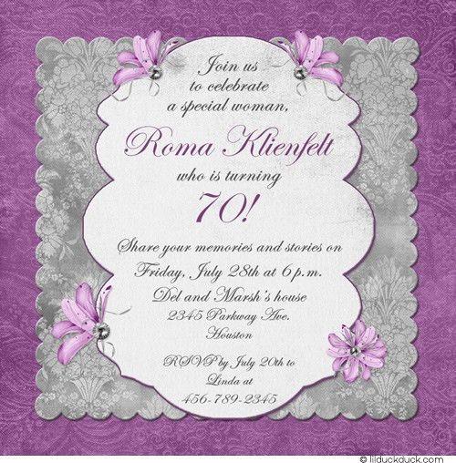 Stunning 70Th Birthday Invitation Cards 11 For Sample Invitation ...