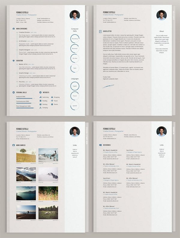 20 Free Editable CV/Resume Templates for PS & AI | Cv template ...