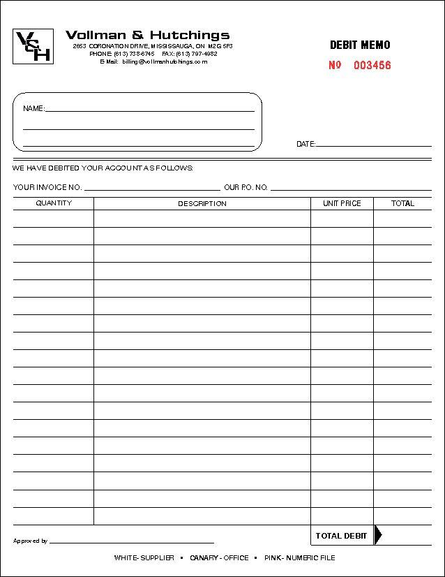 7+ debit memoReport Template Document   report template