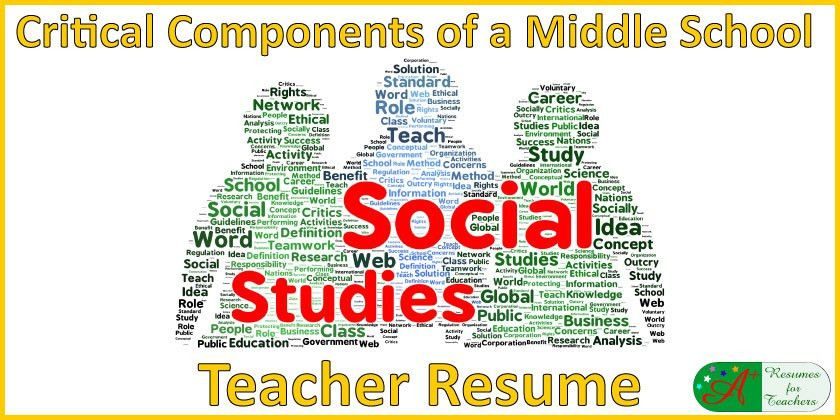 Don't Forget These in Your Middle School Social Studies Teacher Resume
