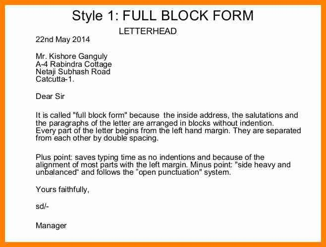 8+ sales letter full block style | buyer resume