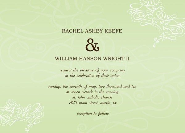 24 Wedding Invitations Templates For Word | Vizio Wedding