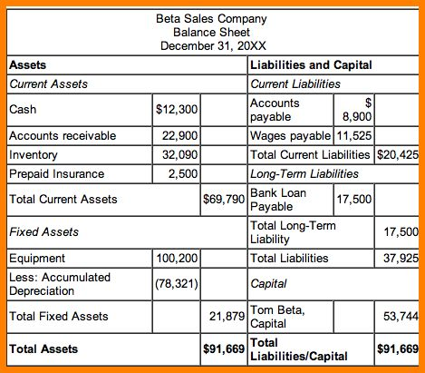 2+ income statement and balance sheet template | Case Statement 2017