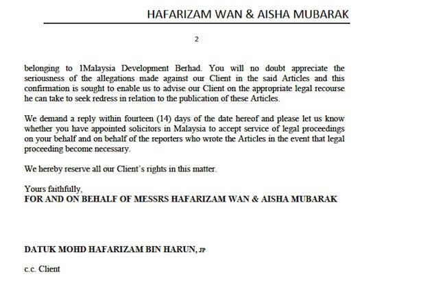 Did Najib's lawyers send the most pathetic legal letter to WSJ ...
