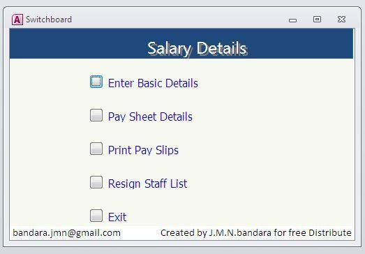 Create Ms Access Database Software to Prepare Salary in Your ...