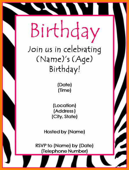 7+ free birthday party invitation templates | budget template