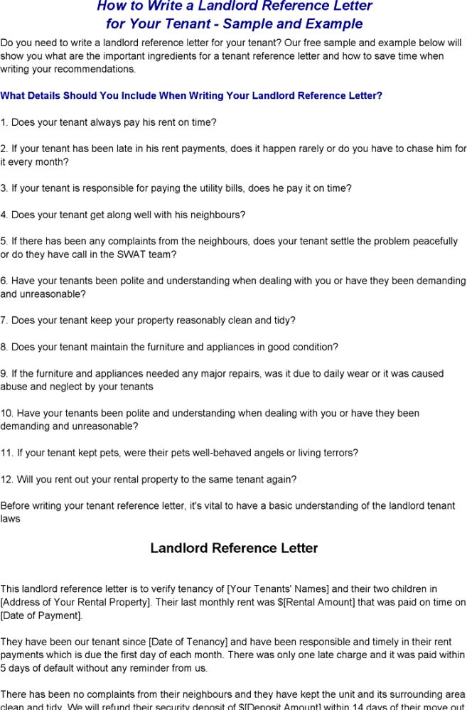 10 Work Reference For Landlord Template Job Duties work reference ...