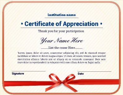 Certificate of Appreciation with a clean and fresh look. Great for ...