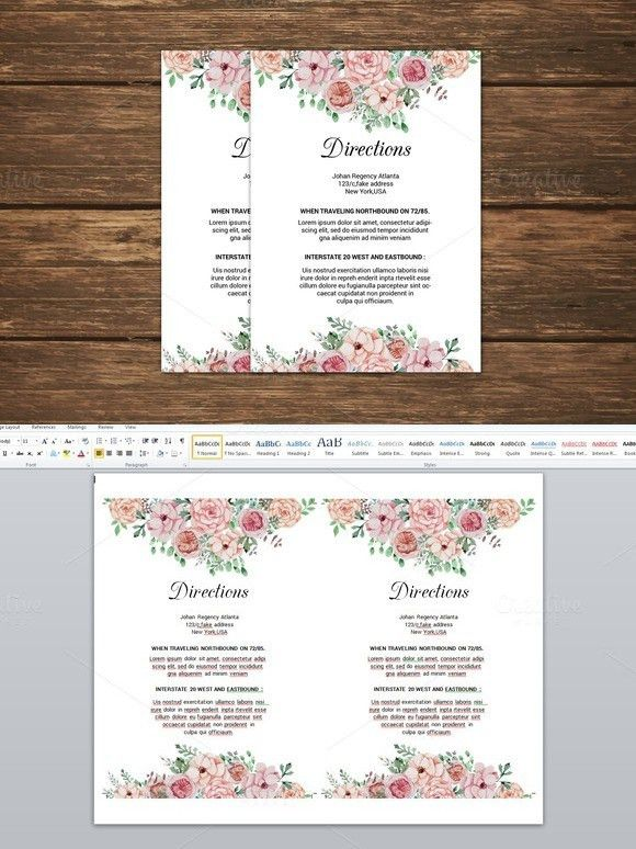 Wedding Information Card Template | Wedding, Card wedding and Cards