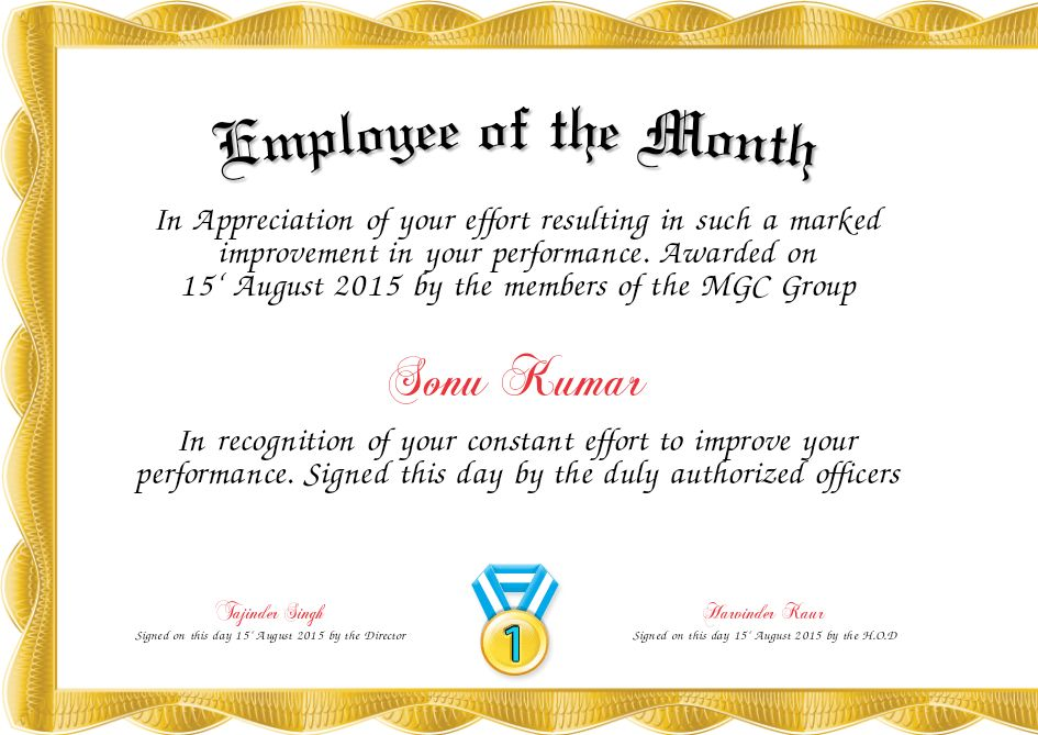 Employee Of The Month Template | eknom-jo