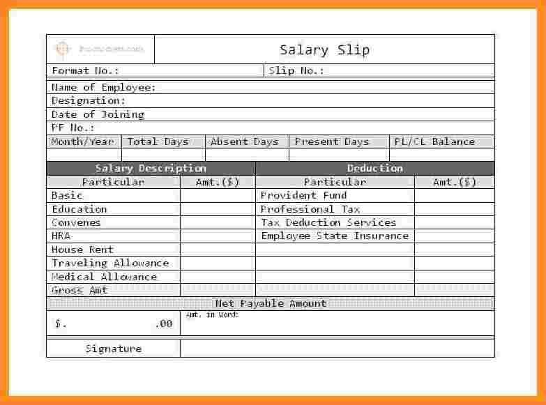 10+ salary bill format | Sales Slip Template
