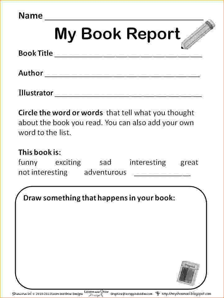 1st Grade Book Report.First Grade Book Report Pages.png - Pay Stub ...