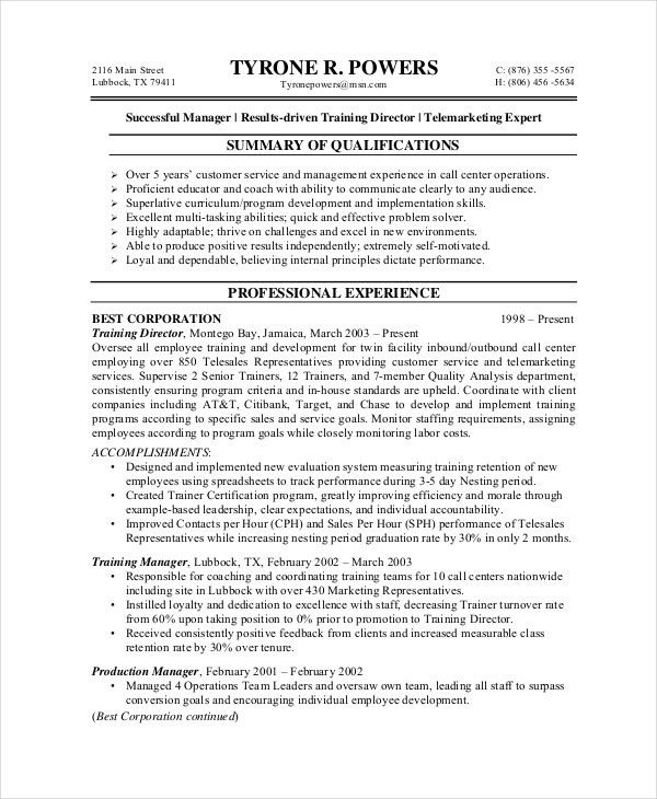 Customer Service Resume Example - Free Word, PDF, PSD Documents ...
