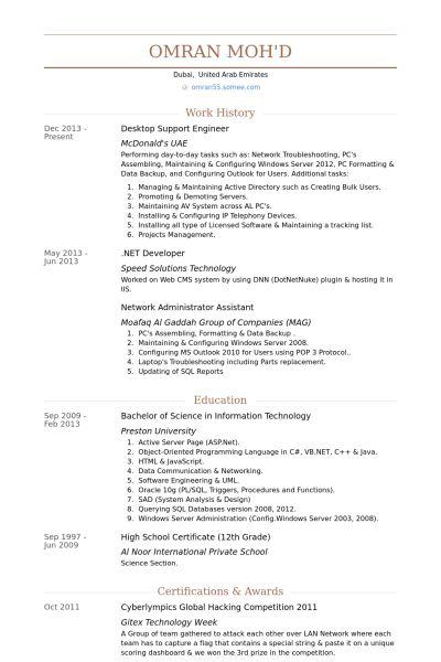 Download Developer Support Engineer Sample Resume ...