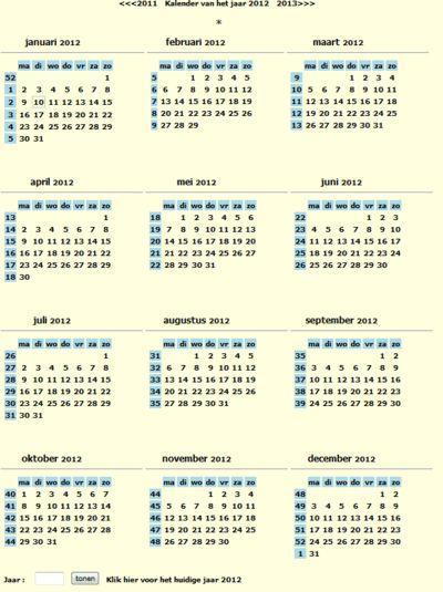 Kalender/Agenda - Download