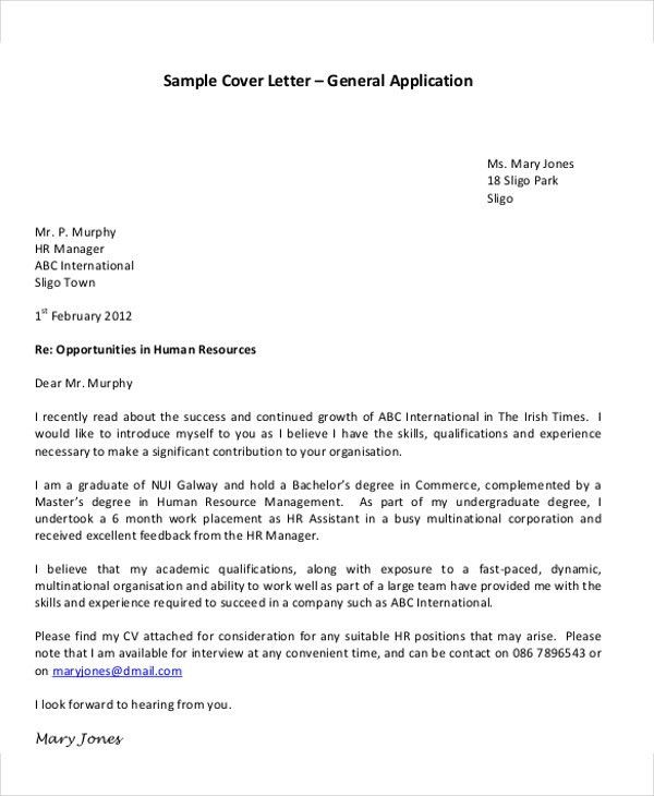 25+ Application Letter Templates Format   Free & Premium Templates