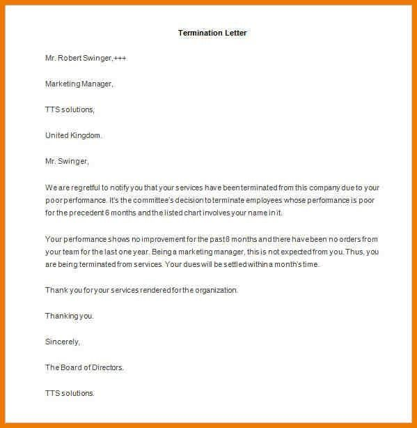 termination notice format free meeting agenda template termination ...
