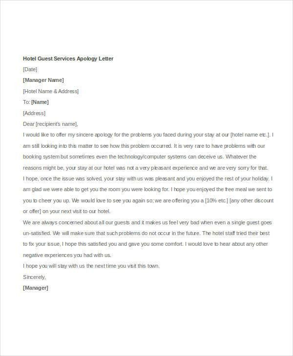 Example Of Sorry Letter | Samples.csat.co