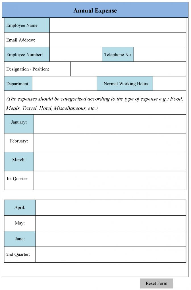 Expense Form Template Sample Expense Form Template Sample ~ Lotcos