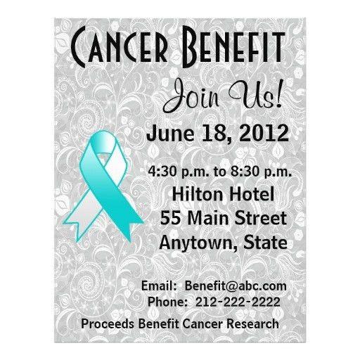 Cervical Cancer Awareness Benefit Floral Flyer | Fundraiser ...
