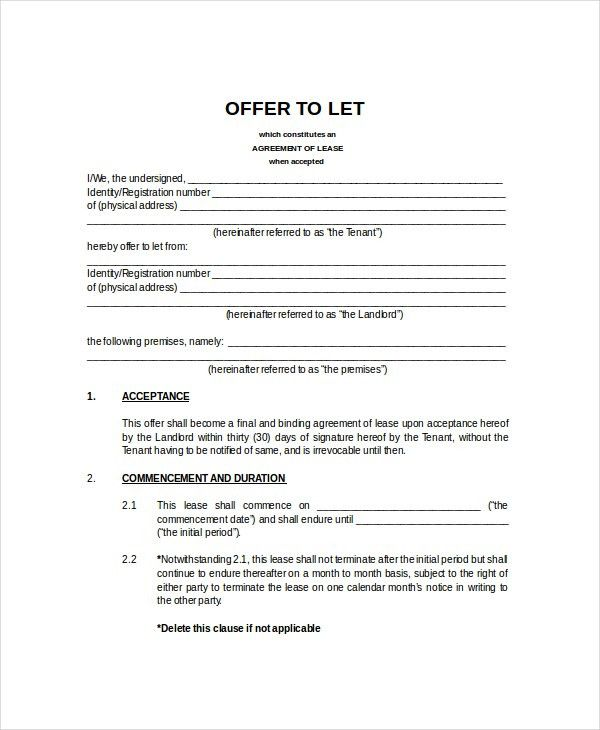 Rental Agreement Template - 9+ Free Word, PDF Documents Download ...