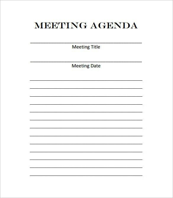 Meeting Outline Template – 10+ Free Sample, Example, Format ...
