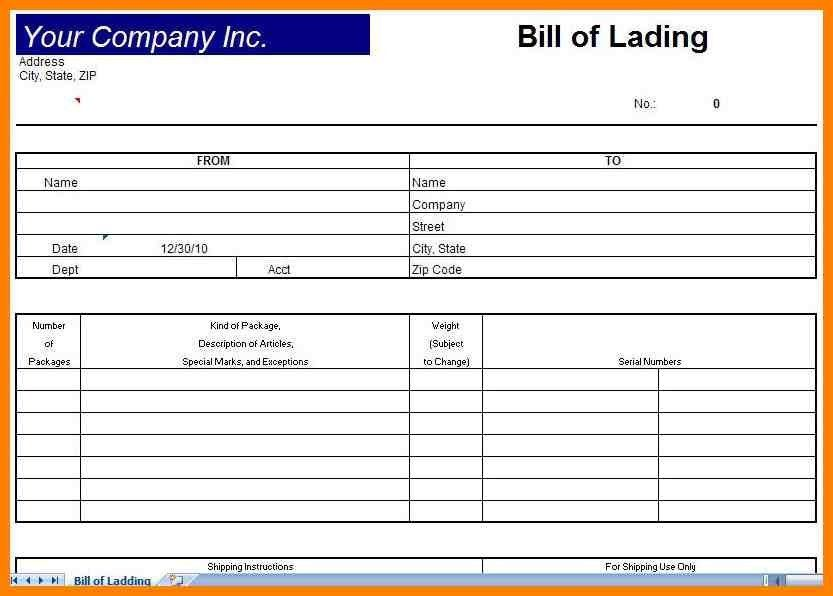 Bill Of Lading Pdf. Bill Of Lading Form Pdf Sample Bill Of Lading ...