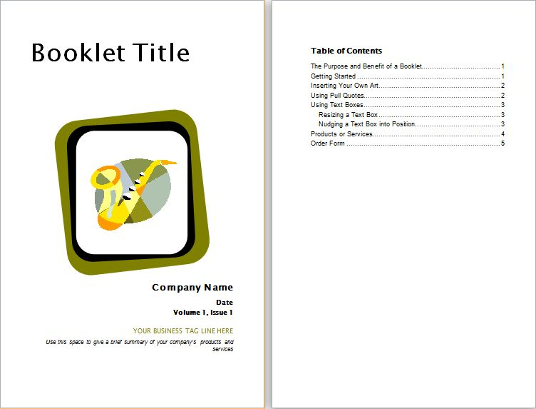 Product Advertisement Booklet Template for WORD   Document Hub
