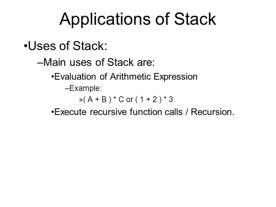 Stack Any Other Data Structure Array Linked List - ppt video ...
