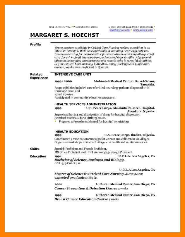 10+ example of resume profile | emt resume