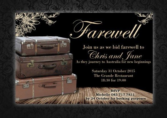 Sample Farewell Invitation Template - 8+ Download Documents in PDF ...