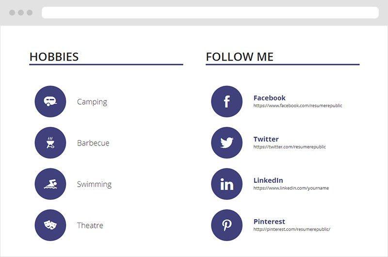 Calamar | Free online resume template - Resume Republic