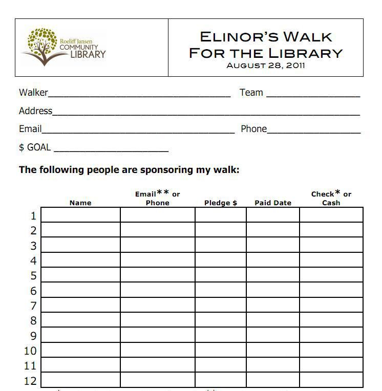 Elinor's Walk – Library 5K Walkathon « Roeliff Jansen Community ...