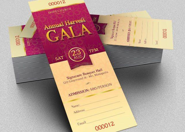 Harvest Gala Ticket Template - $6.00 Harvest Gala Ticket Template ...