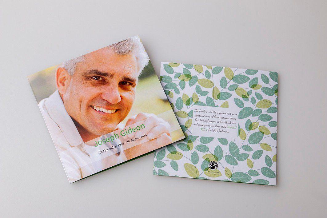 Memorial Card Template square booklet