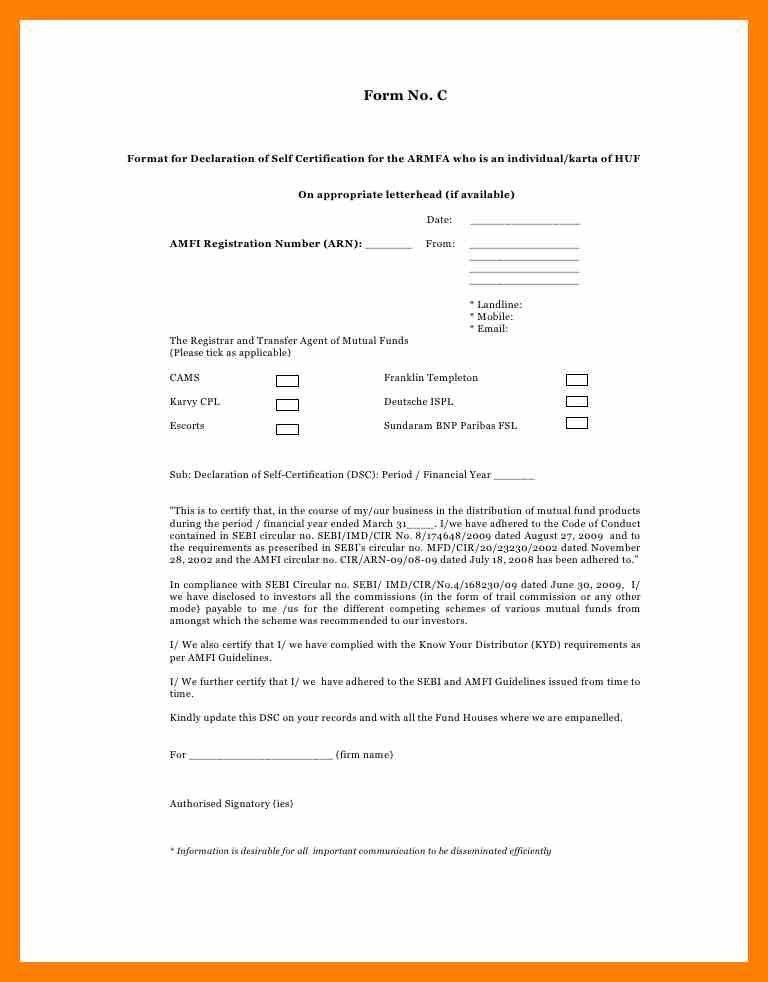 7+ self declaration letter   students resume