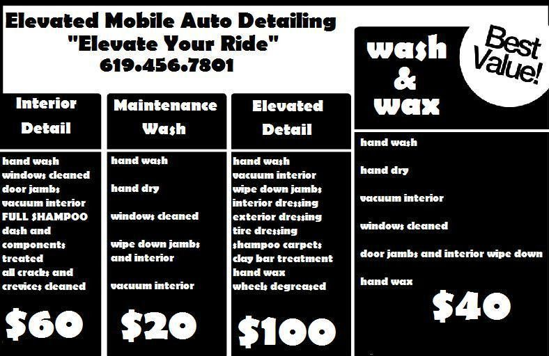 Image Gallery mobile detailing flyers
