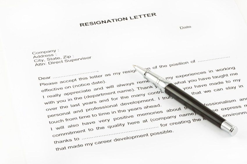 Short Letter Of Resignationsample Short Notice Resignation Letter ...