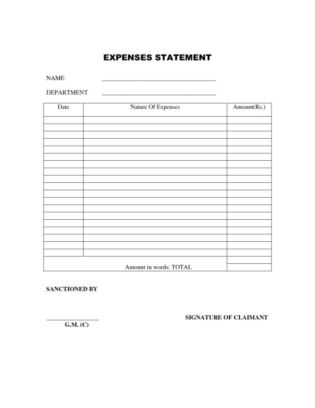 Free Printable Expense Report Expense Sheet Family Expense Sheet – Simple Expense Report Template