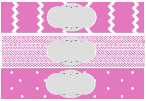 free printable baby shower water bottle label pink - Baby Shower ...