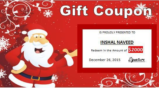 Happy Christmas Gift Certificate template | Word & Excel Templates