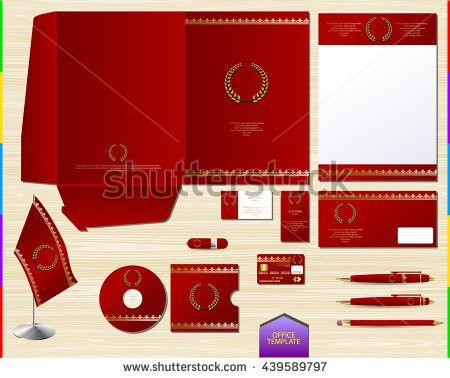 Vector White Corporate Id Brand Book Stock Vector 435352114 ...